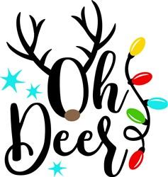 Oh Christmas Deer print art