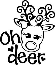 Kawaii Oh Deer print art