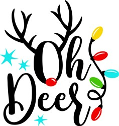 Oh Deer Rudolph print art