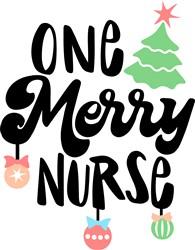 One Merry Nurse print art