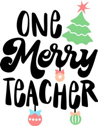One Merry Teacher print art