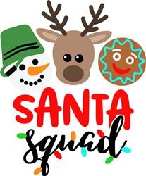 Santa Squad print art