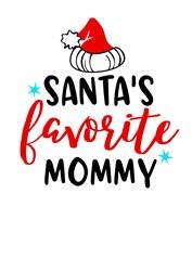 Santa's Favorite Mommy print art