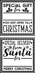 Christmas Gift Tags print art