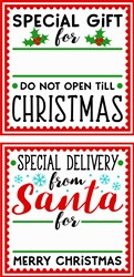 Special Delivery Gift Tag print art