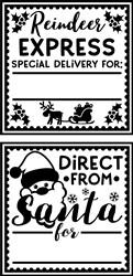 Reindeer Express Gift Tag print art