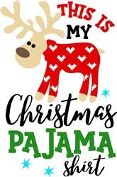 Christmas Pajama Shirt print art