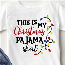Christmas Lights Pajama Shirt print art