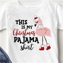 Christmas Flamingo Pajama Shirt print art
