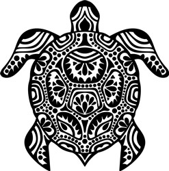 Tribal Turtle print art