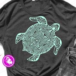 Tribal Turtle Outlne print art
