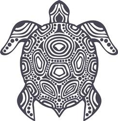 Purple Tribal Turtle print art