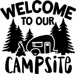 Welcome To Our Campsite print art