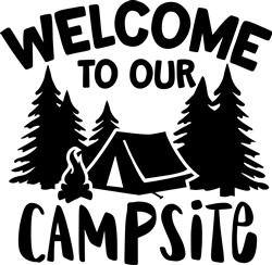 Welcome To Our Tent print art