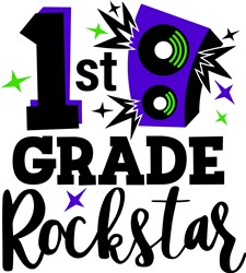1st Grade Rockstar print art