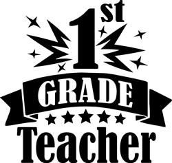 1st Grade Teacher print art
