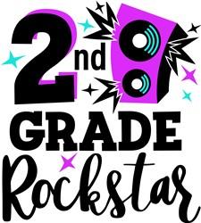 2nd Grade Rockstar print art