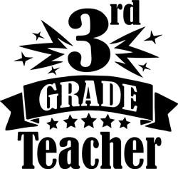 3rd Grade Teacher print art
