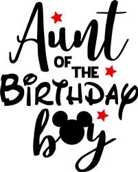 Aunt Of Birthday Boy print art