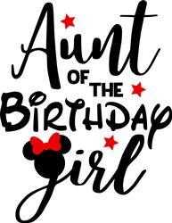 Aunt Of Birthday Girl print art