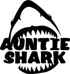 Auntie Shark print art