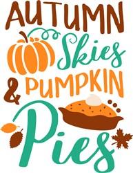 Autumn Skies print art