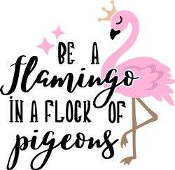 Be A Flamingo print art