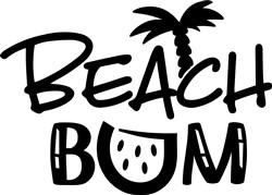 Beach Bum print art