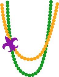 Mardi Gras Beads print art