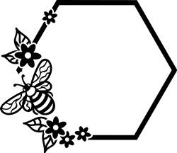 Bee Hexagon print art