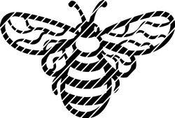 Outline Bee print art