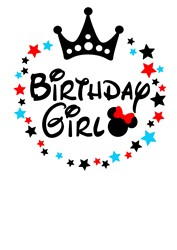 Birthday Girl print art