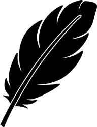 Feather print art