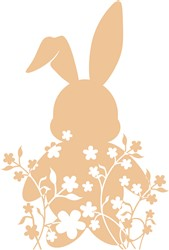 Bunny In Flowers print art