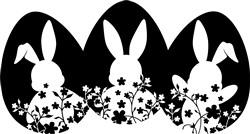 Silhouette Bunny Eggs print art