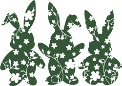 Flower Rabbits print art