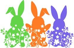Floral Bunnies print art