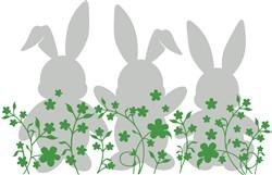 Shamrock Rabbits print art