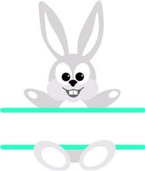 Bunny Namedrop print art