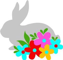 Floral Hare print art