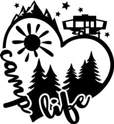 Camp Life print art