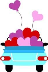 Valentine Car print art