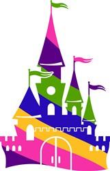 Rainbow Disney Castle print art