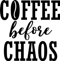 Coffee Before Chaos print art