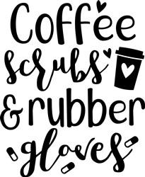 Coffee Scrubs Gloves print art