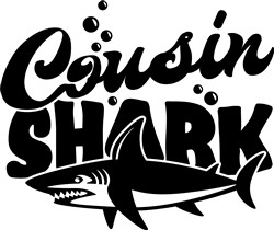 Cousin Shark print art