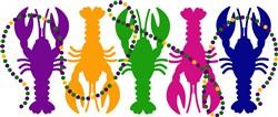 Mardi Gras Lobsters print art