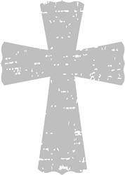 Grunge Cross print art