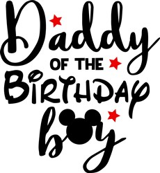 Birthday Boy Daddy print art