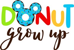 Donut Grow Up print art
